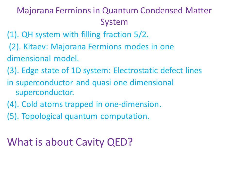 Majorana Fermions in Quantum Condensed Matter System