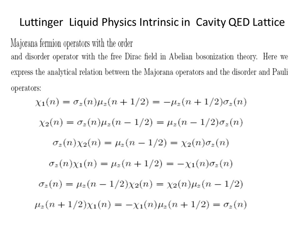 Luttinger Liquid Physics Intrinsic in Cavity QED Lattice