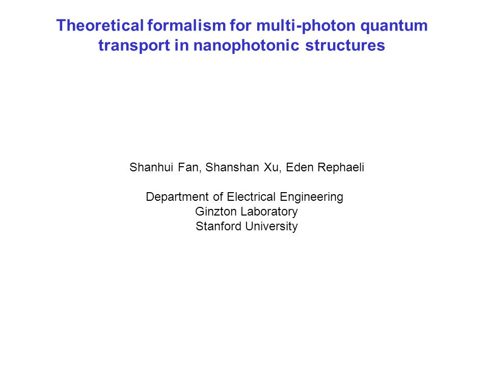 Theoretical formalism for multi-photon quantum transport in nanophotonic structures