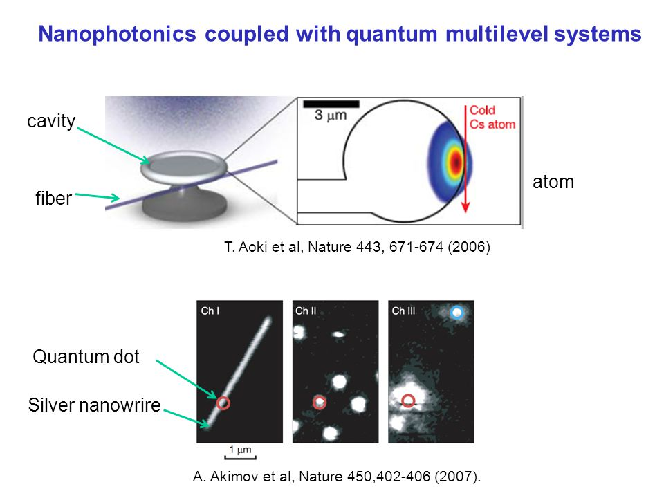 Nanophotonics coupled with quantum multilevel systems