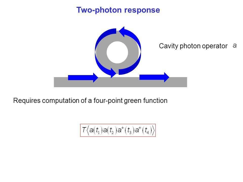 Single-Photon Transport Two-photon response