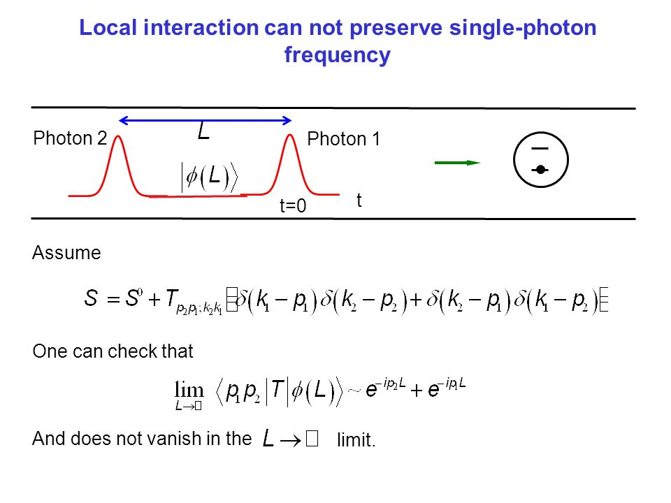 Local interaction can not preserve single-photon frequency