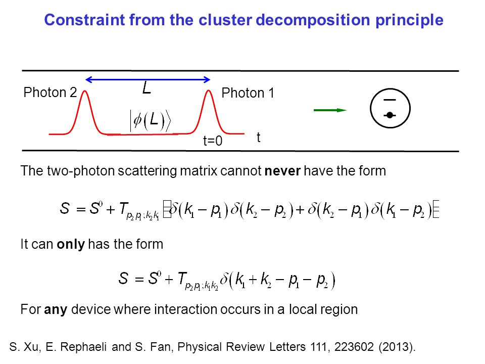 Constraint from the cluster decomposition principle