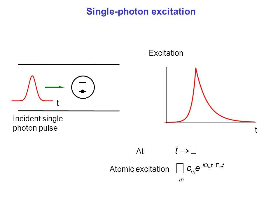 Single-photon excitation