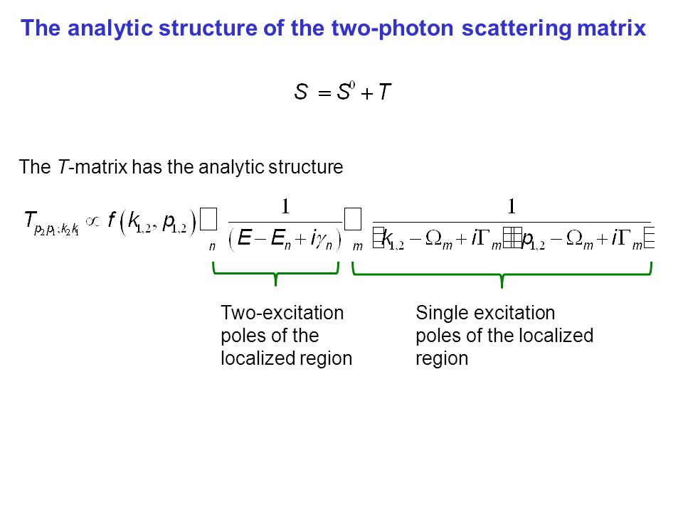 The analytic structure of the two-photon scattering matrix