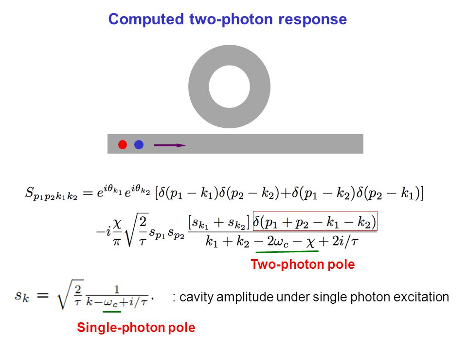 Computed two-photon response