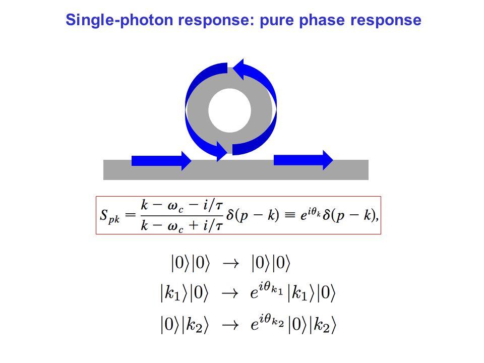 Single-photon response: pure phase response
