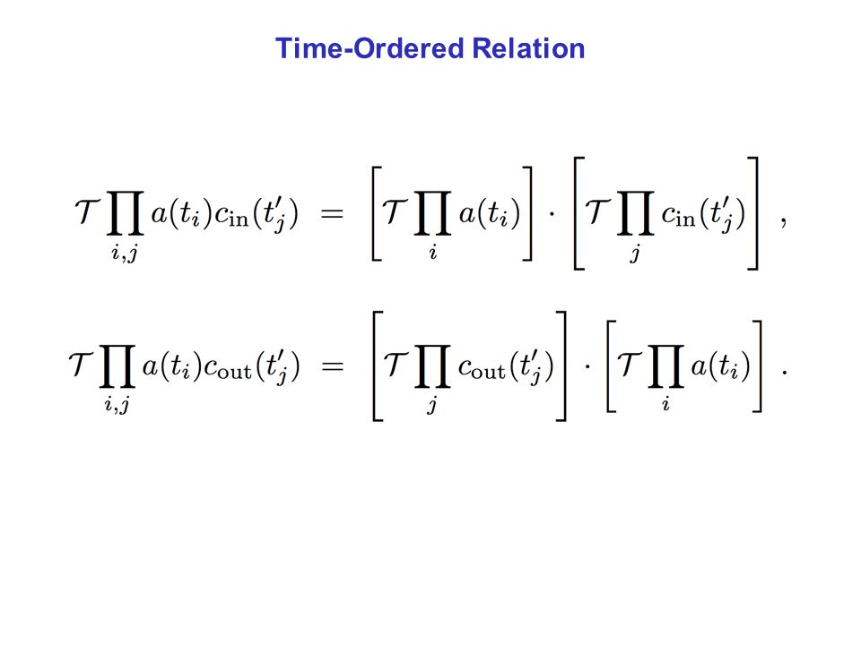 Time-Ordered Relation