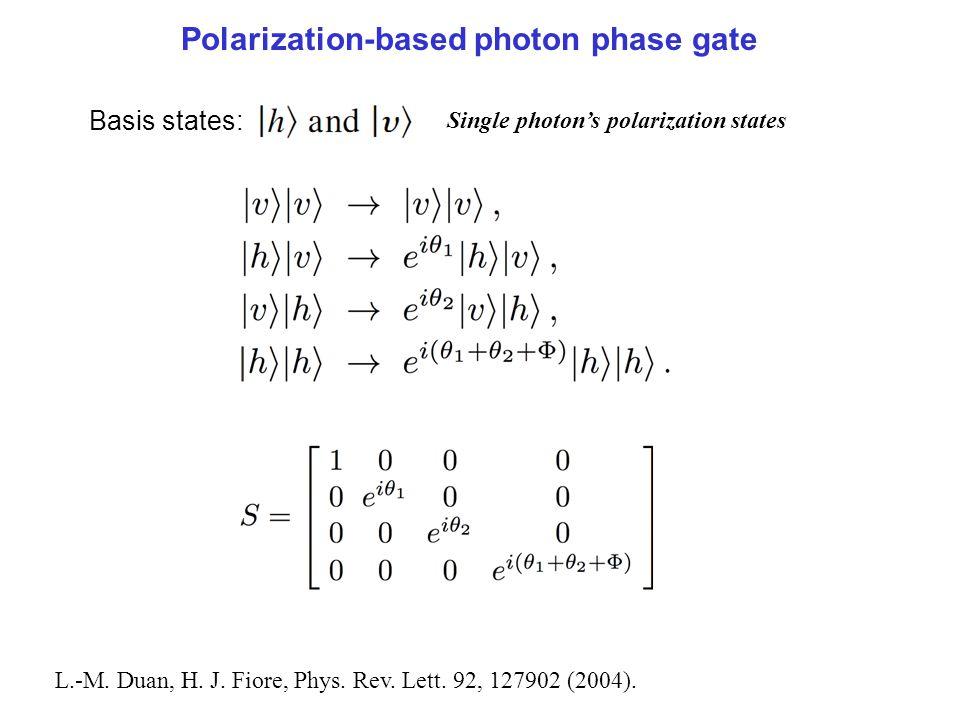 Polarization-based photon phase gate