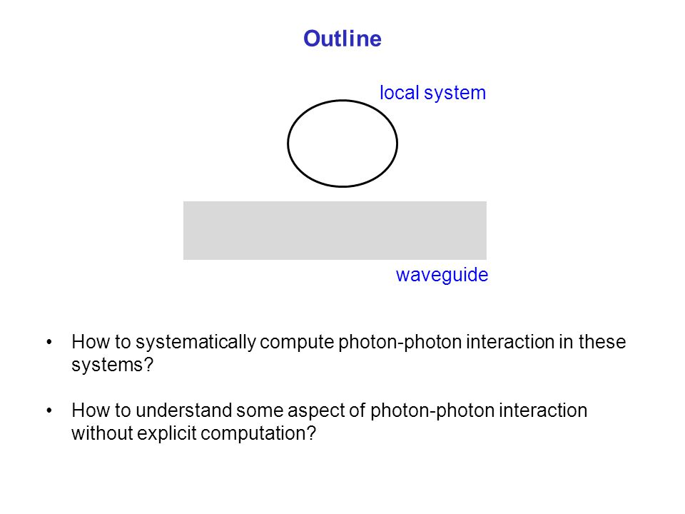 Outline local system waveguide