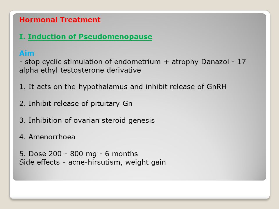 Hormonal Treatment I.