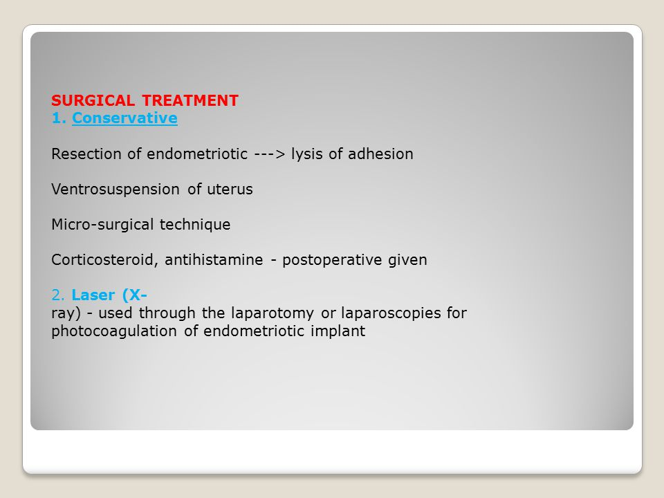 SURGICAL TREATMENT 1.