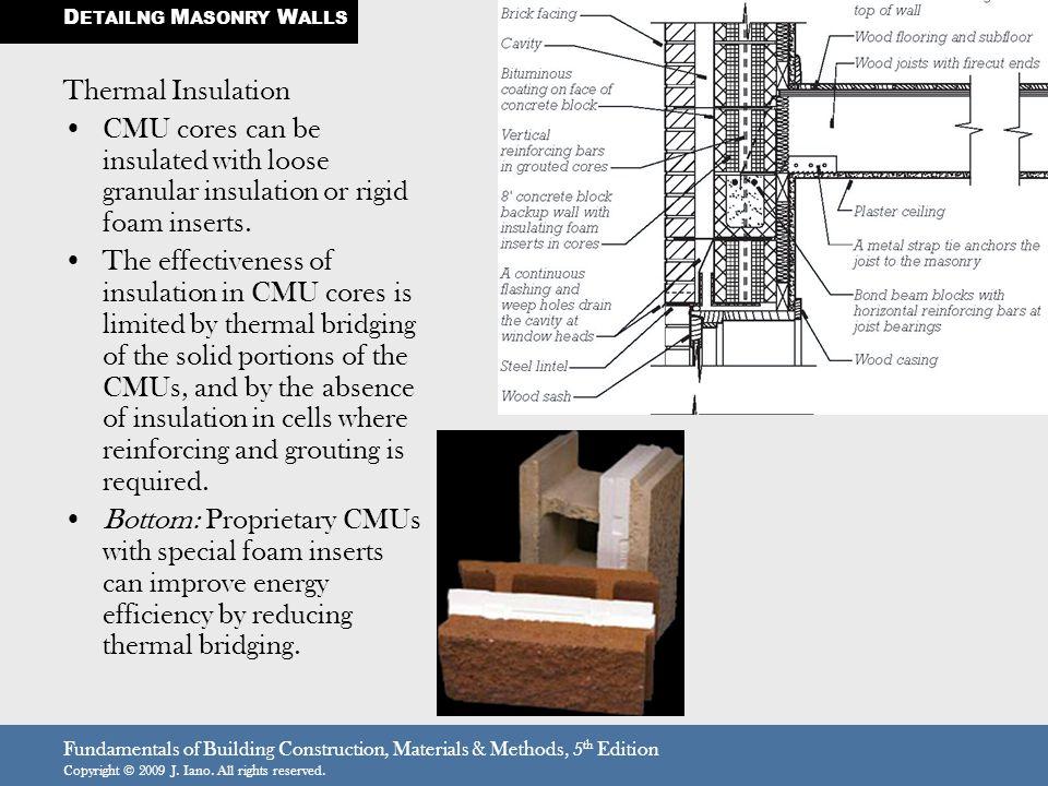 DETAILNG MASONRY WALLS