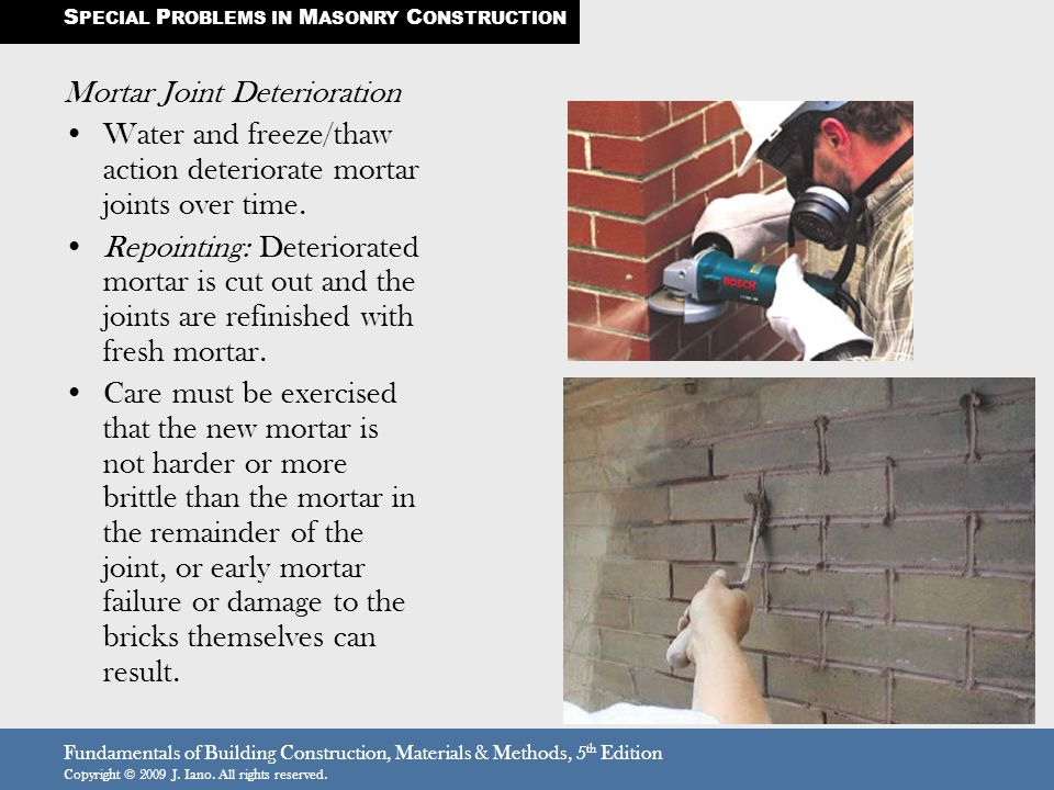 Mortar Joint Deterioration