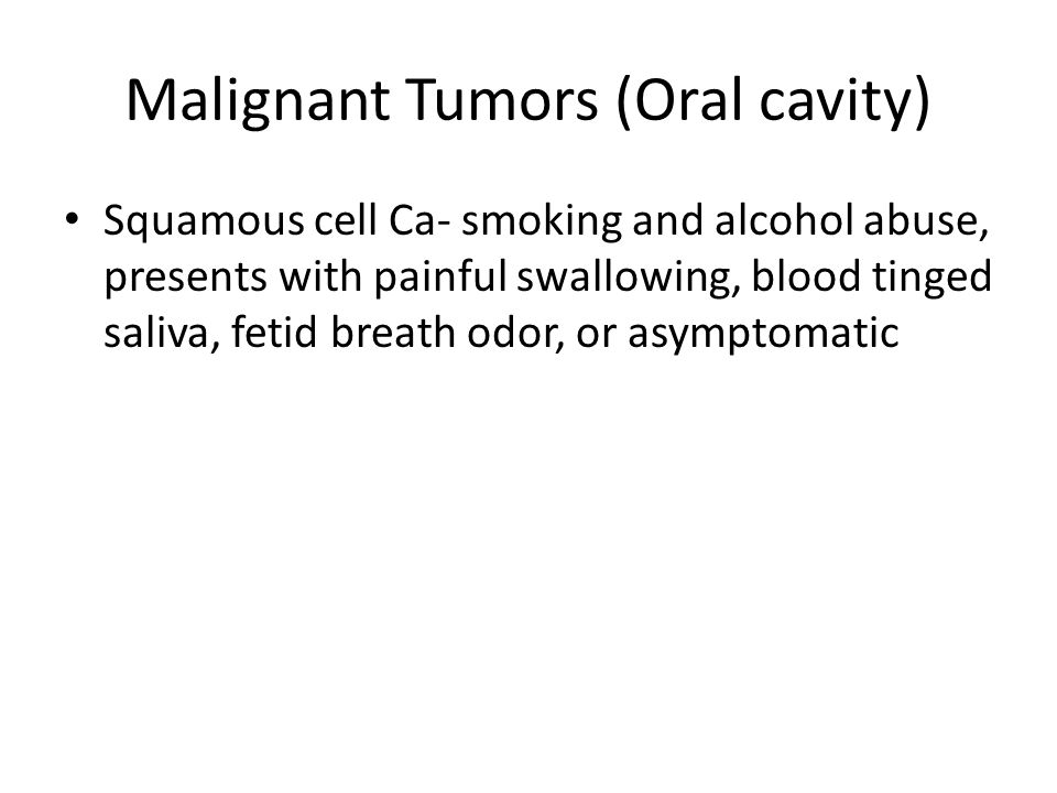 Malignant Tumors (Oral cavity)