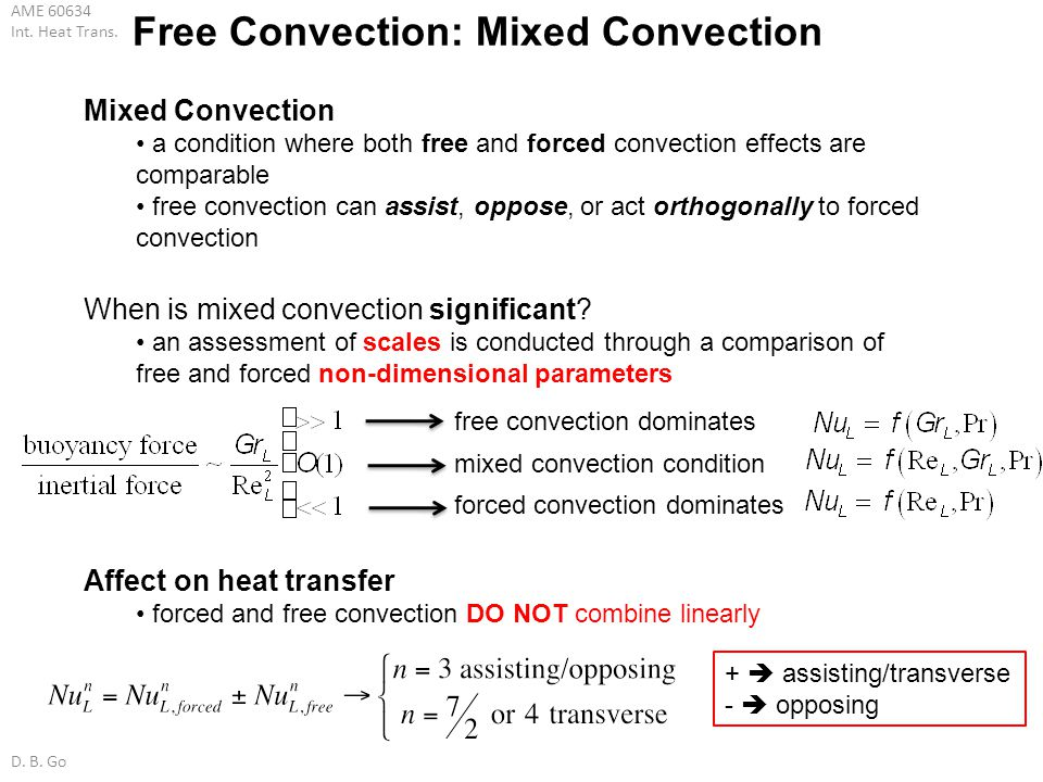 Free Convection: Mixed Convection