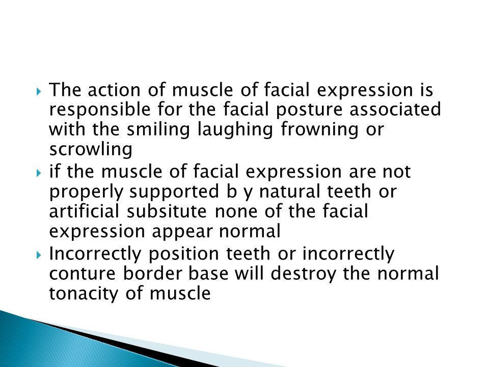 The action of muscle of facial expression is responsible for the facial posture associated with the smiling laughing frowning or scrowling