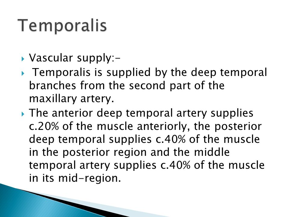 Temporalis Vascular supply:-