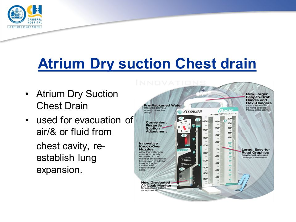Atrium Dry suction Chest drain