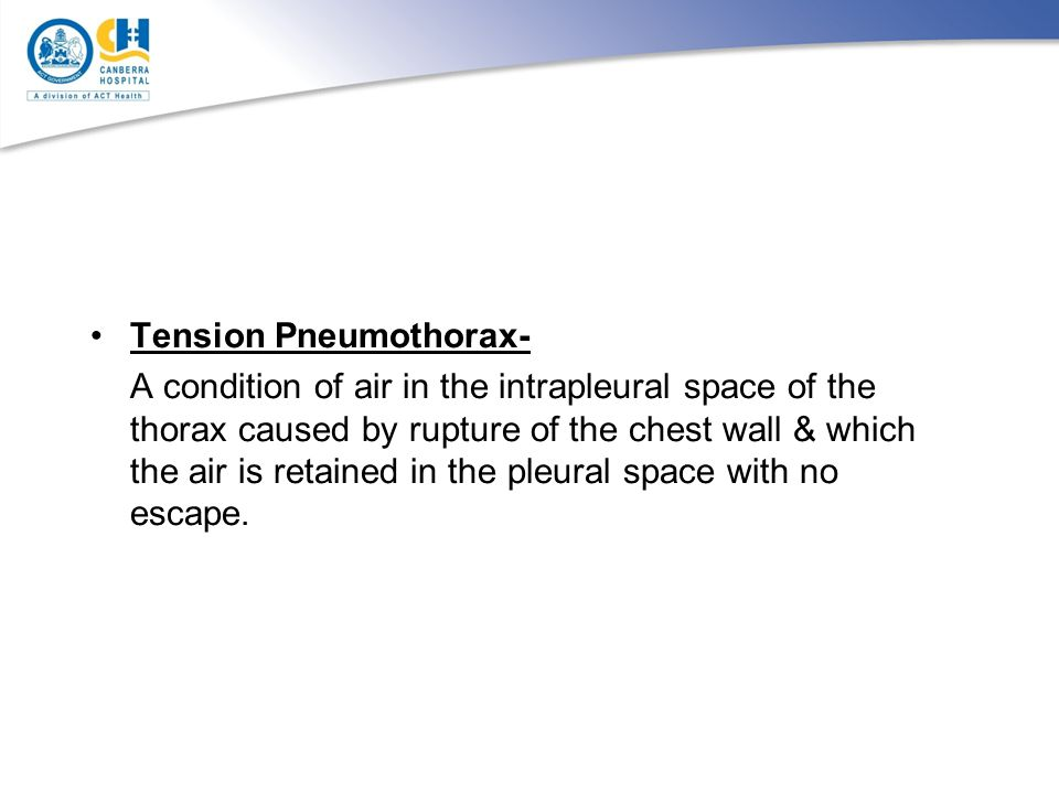 Tension Pneumothorax-
