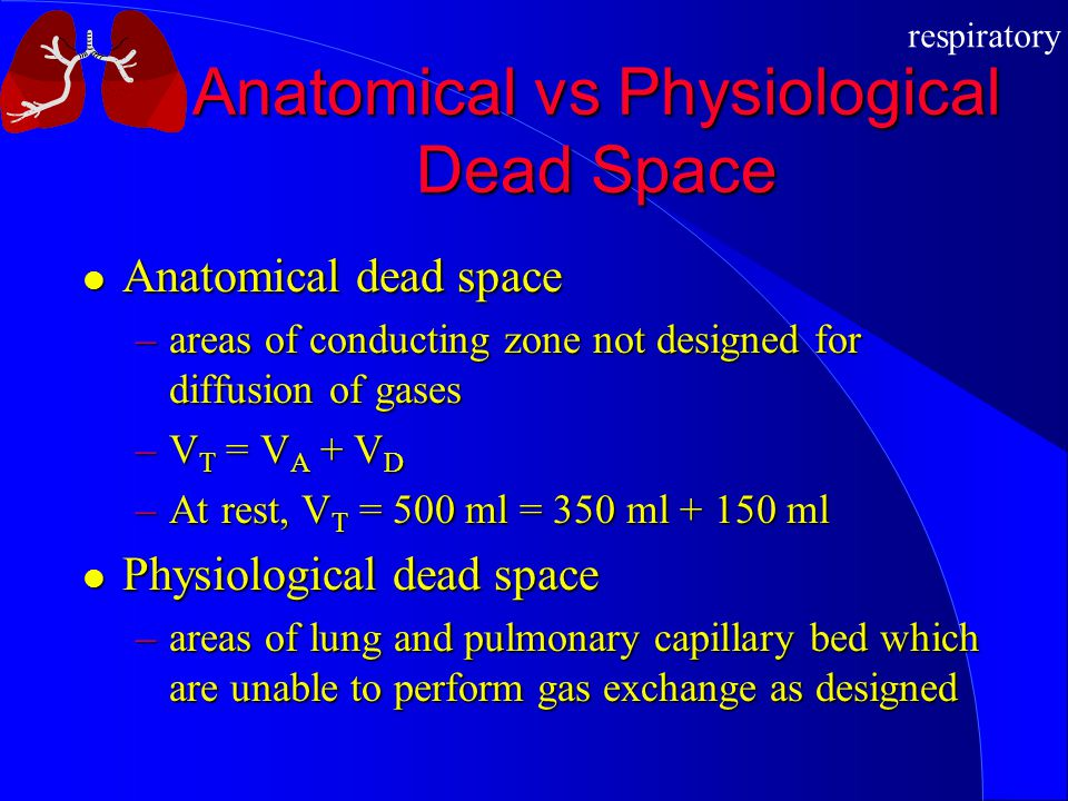 Anatomical vs Physiological Dead Space