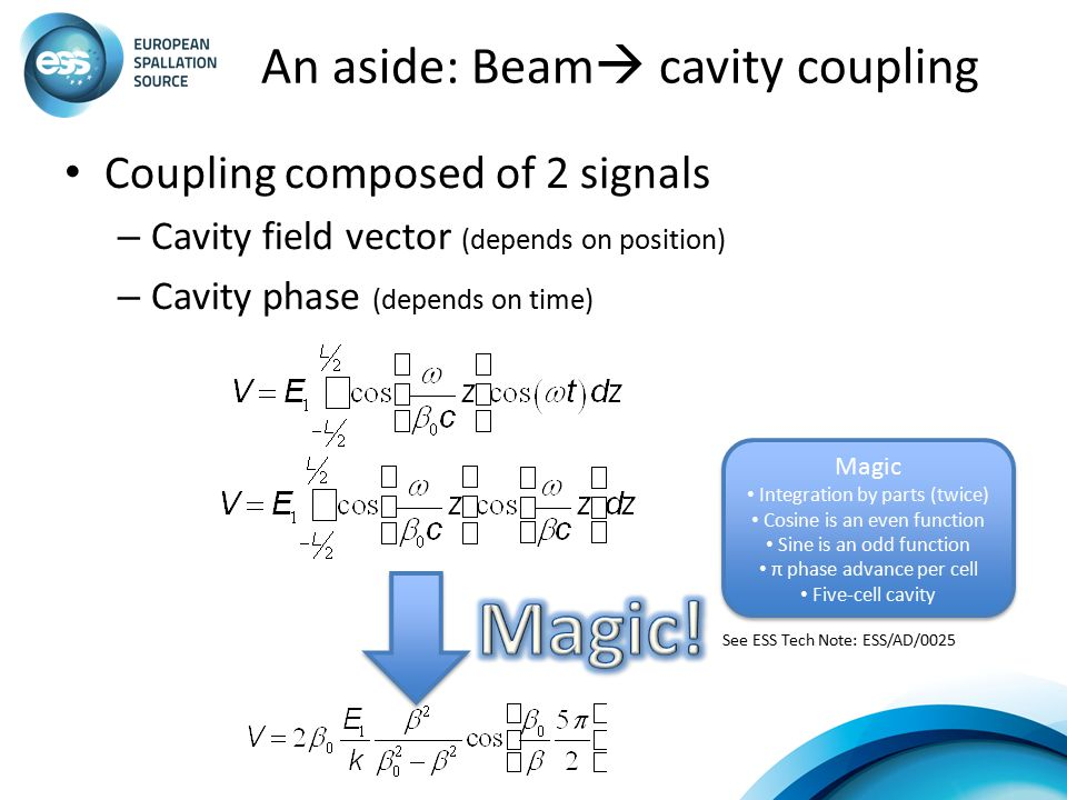 An aside: Beam cavity coupling