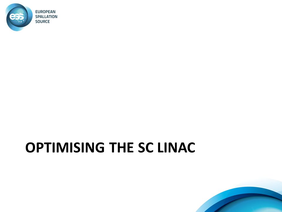 Optimising the SC linac