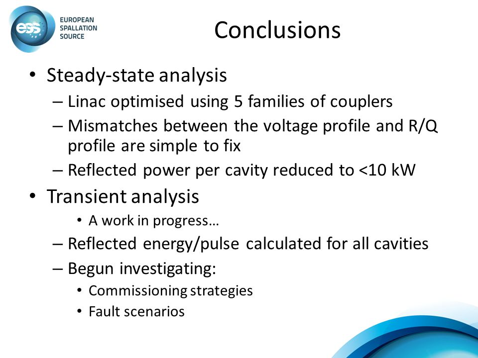 Conclusions Steady-state analysis Transient analysis