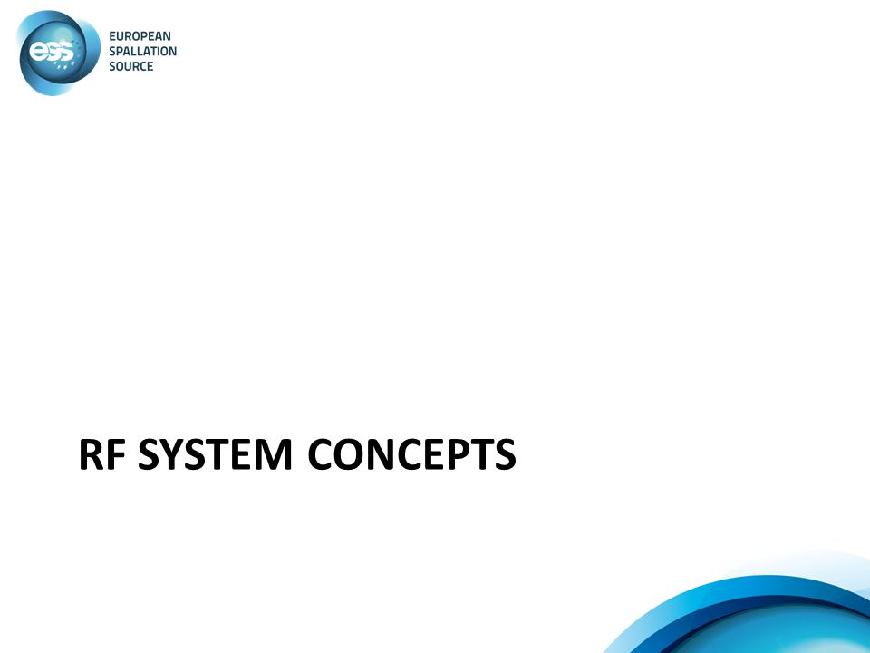 RF System Concepts