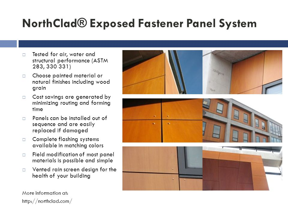 NorthClad® Exposed Fastener Panel System