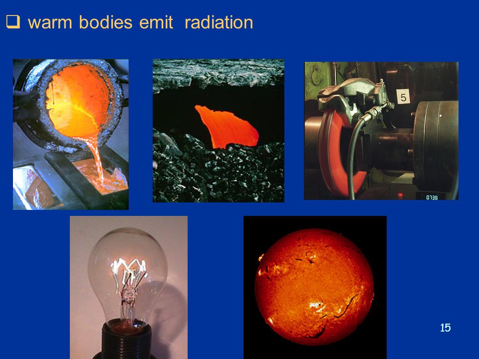 warm bodies emit radiation