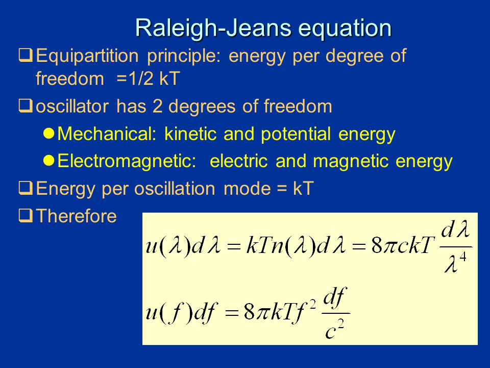 Raleigh-Jeans equation
