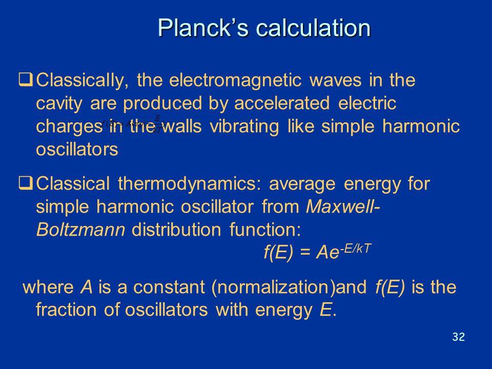Planck's calculation