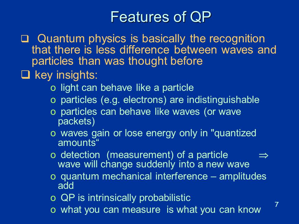 Features of QP key insights: