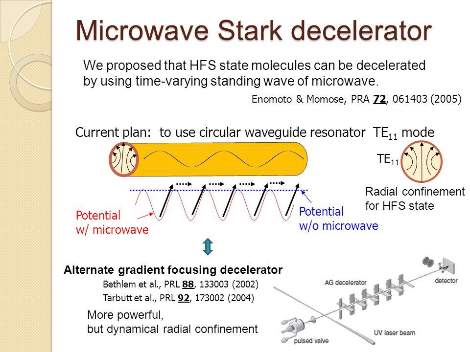 Microwave Stark decelerator