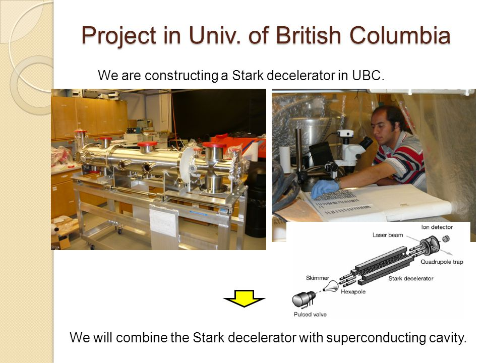 Project in Univ. of British Columbia