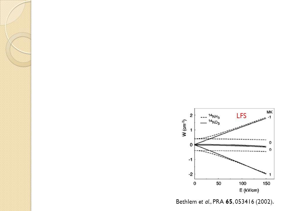 LFS HFS Bethlem et al., PRA 65, 053416 (2002).