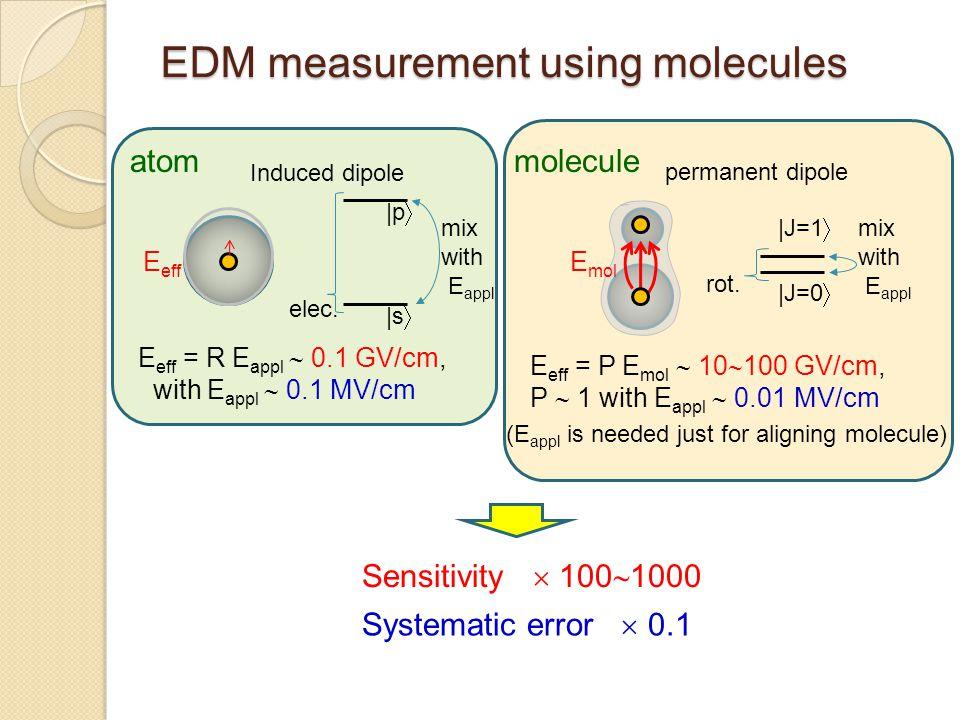 EDM measurement using molecules