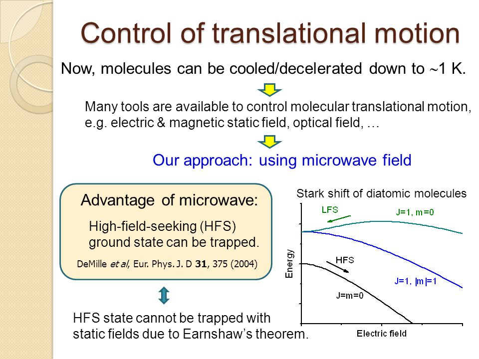 Control of translational motion
