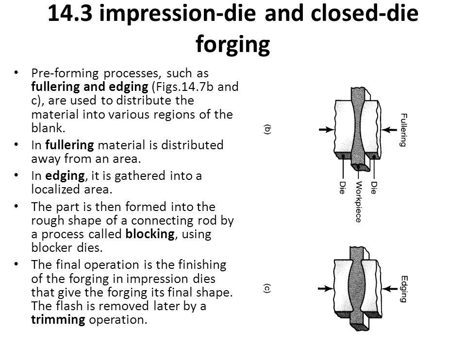 14.3 impression-die and closed-die forging