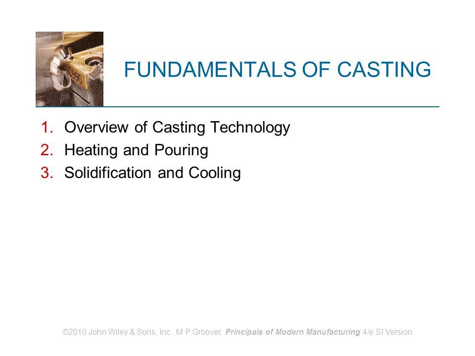 FUNDAMENTALS OF CASTING