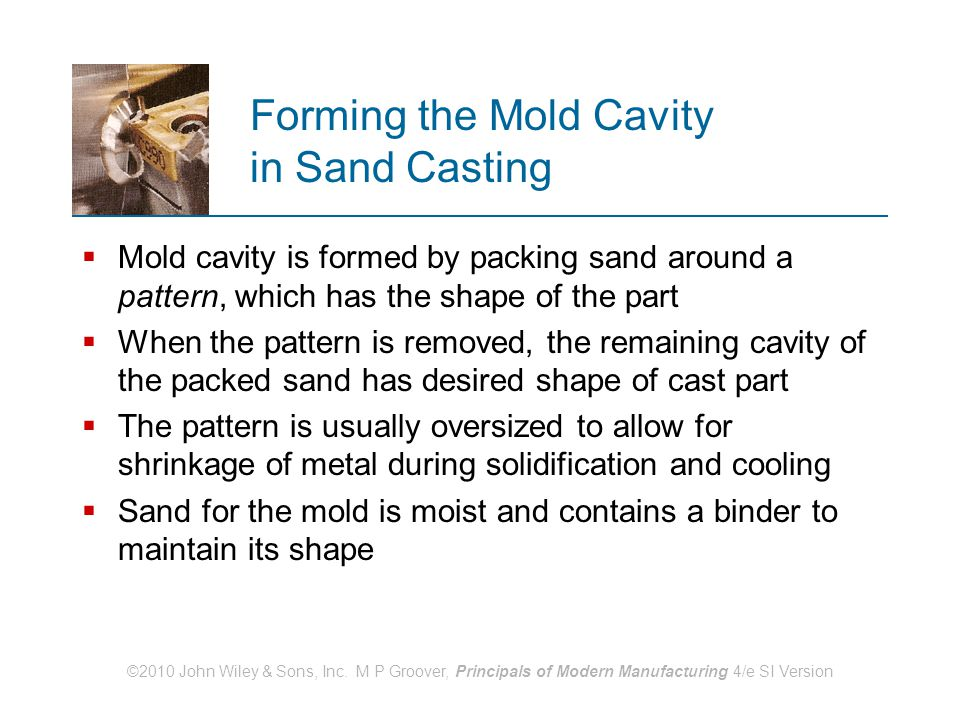 Forming the Mold Cavity in Sand Casting