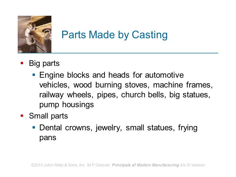 Parts Made by Casting Big parts.