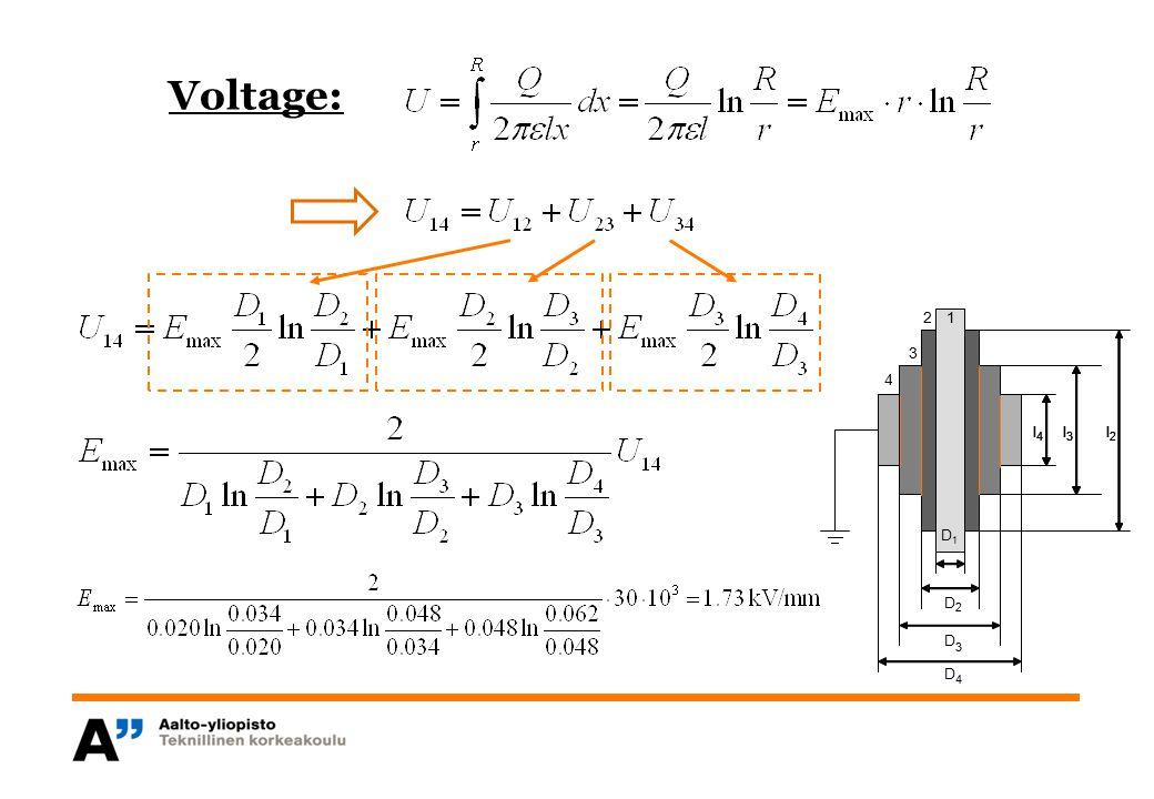 Voltage: l 4 3 2 1 D1 D