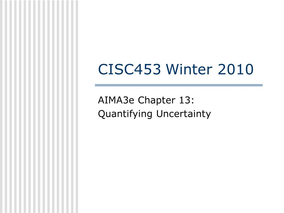 AIMA3e Chapter 13: Quantifying Uncertainty
