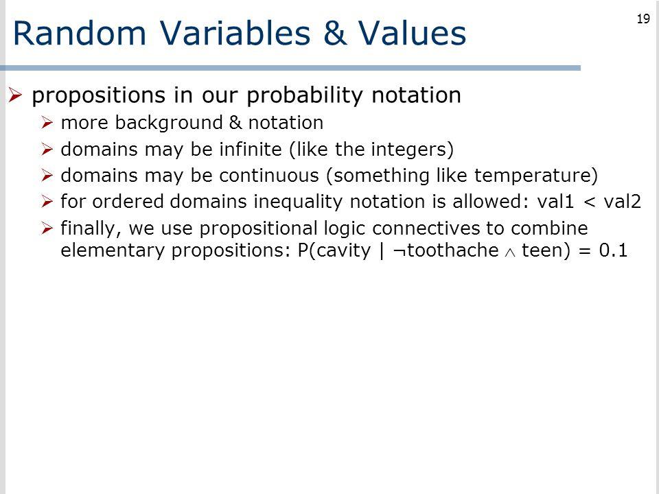 Random Variables & Values