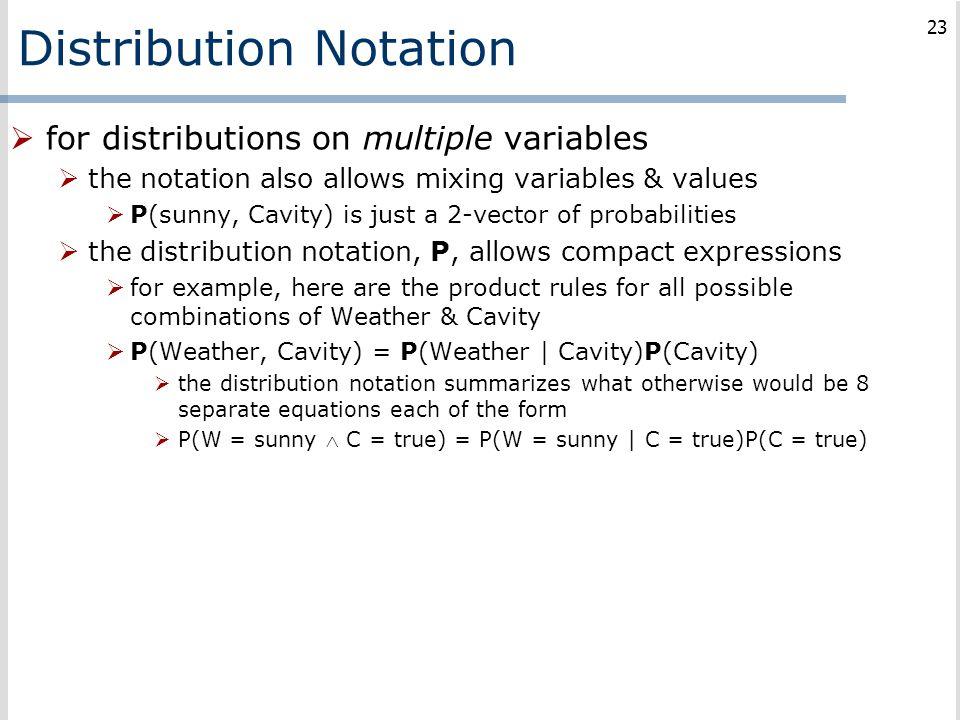 Distribution Notation