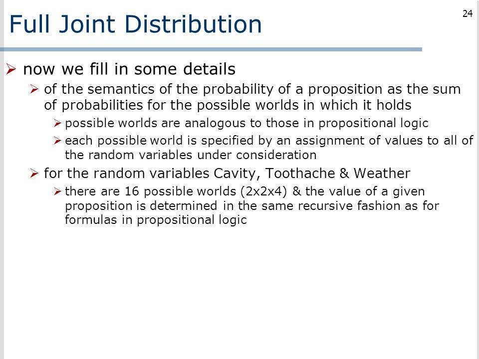 Full Joint Distribution