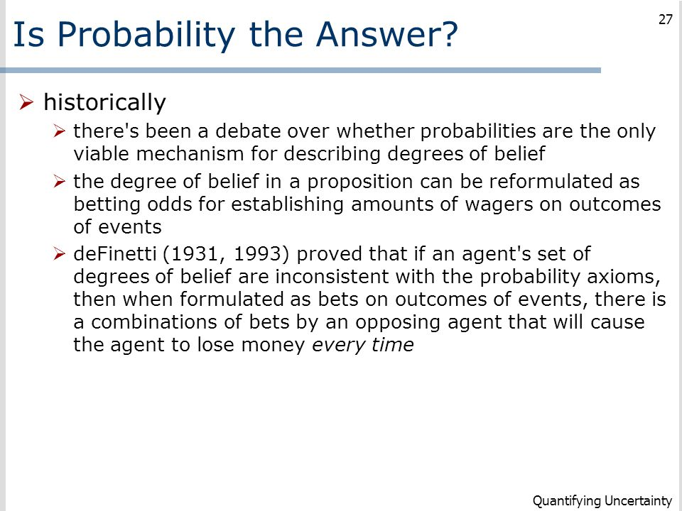 Is Probability the Answer