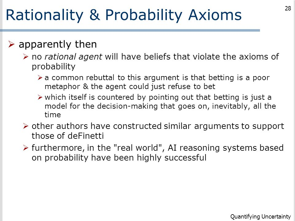 Rationality & Probability Axioms